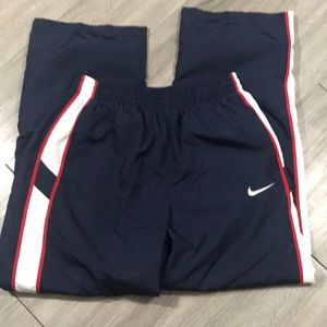 Nike Red, White, Blue Lined Track Pants wi/Pockets